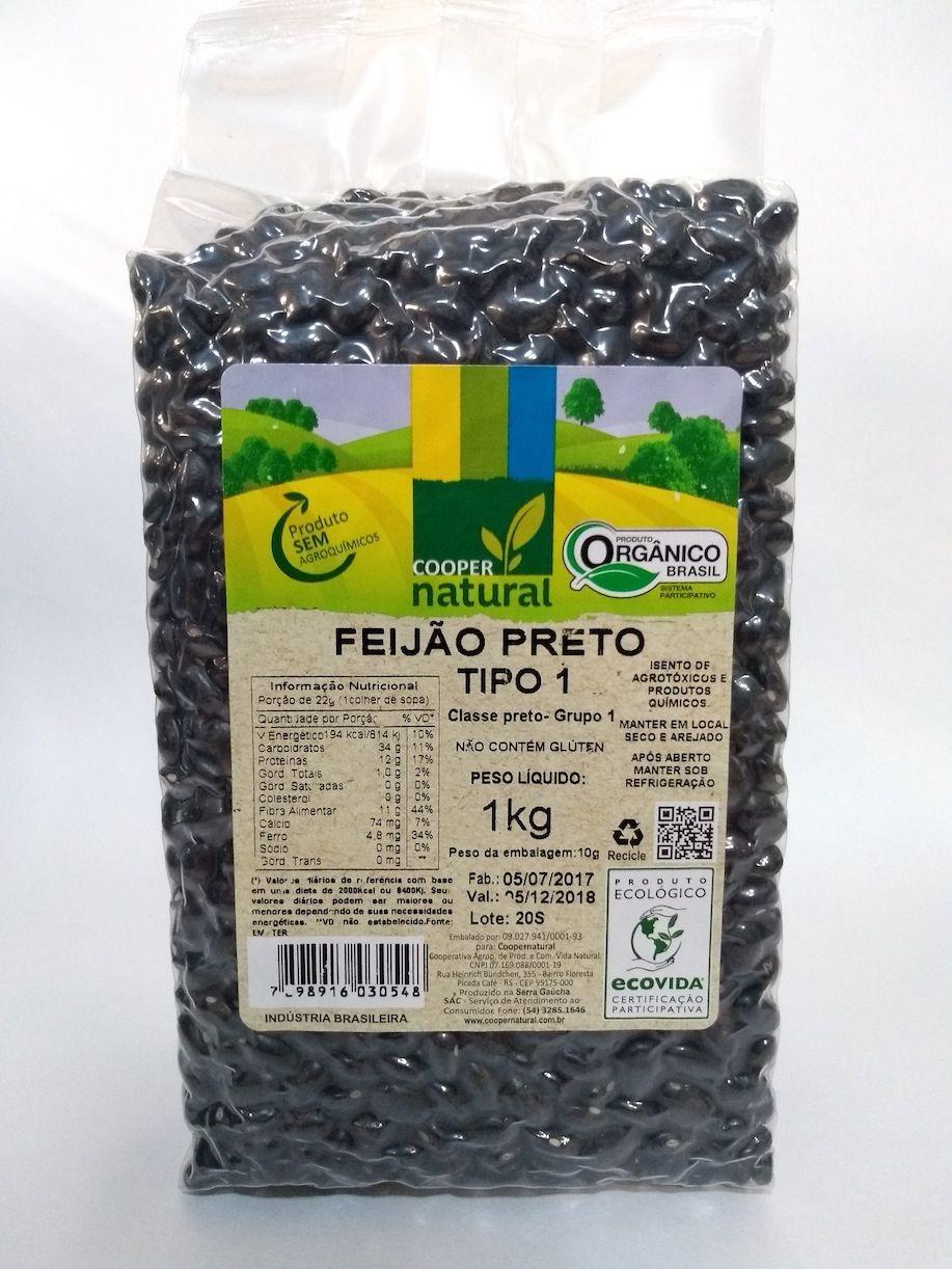 Feijão preto orgânico, 1kg – Coopernatural
