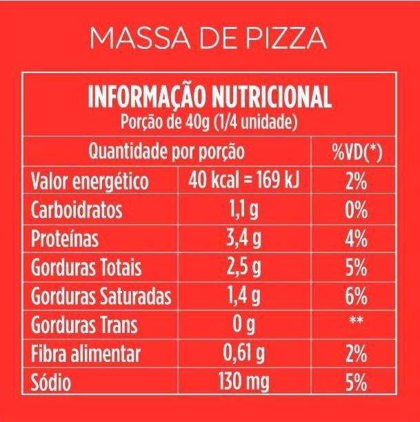 Massa de Pizza de Couve-flor 200g - Magrela