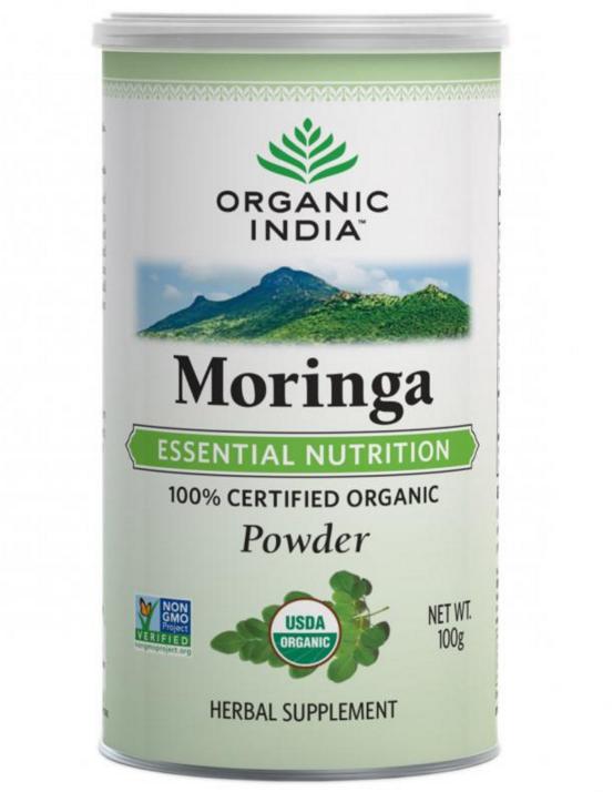 Moringa em pó, 100g - Organic India