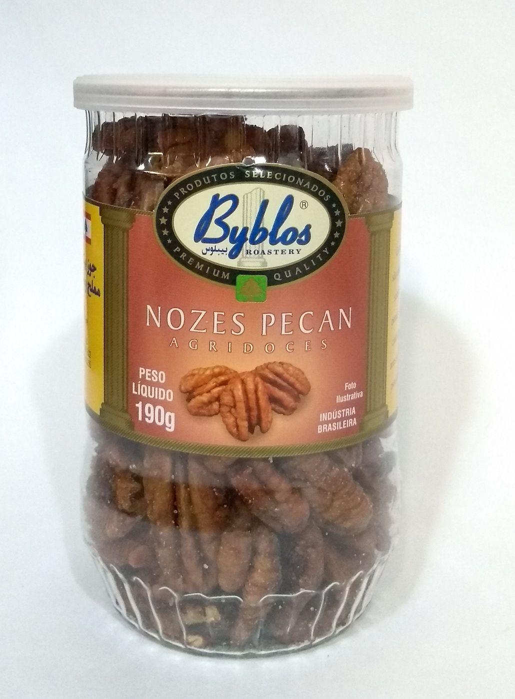 Nozes pecan agridoces, 190g - Byblos