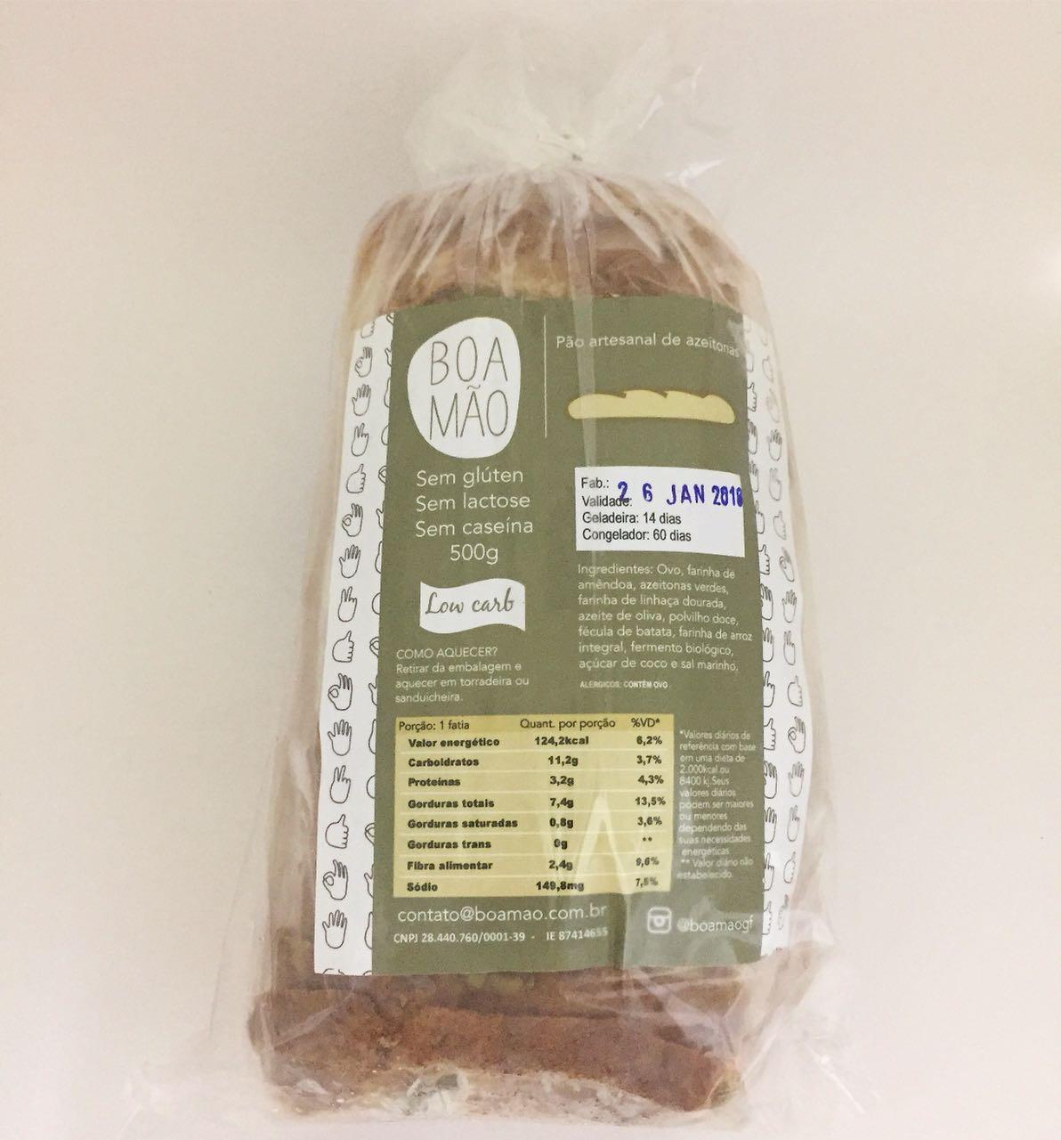 Pão de azeitona low carb, 500g – Boa Mão