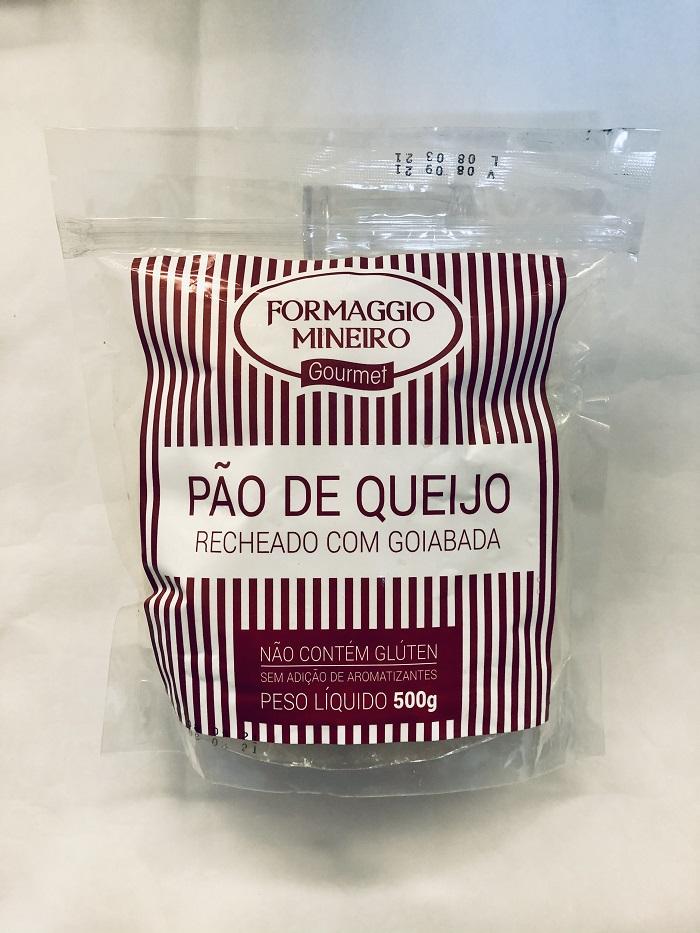 Pão de Queijo recheado com Goiabada 500g - Formaggio Mineiro