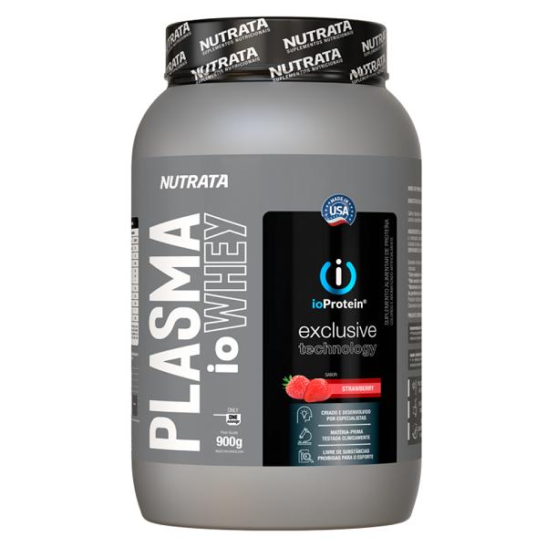 Plasma io Whey Protein Morango 900g - Nutrata