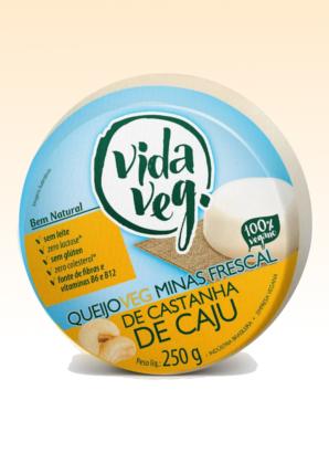 Queijo veg minas frescal de castanha de caju, 250g - Vida Veg