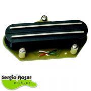 Captador Dual Blade Telecaster Sergio Rosar King Mid T Ponte Preto
