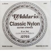 Corda Avulsa Daddario Nylon 3a