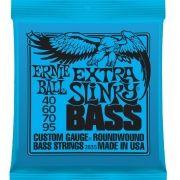 Corda Para Baixo 4 Cordas Ernie Ball 040 4c Extra Slinky