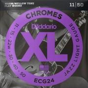 Corda Para Guitarra 011 Ecg24 Chromes Daddario