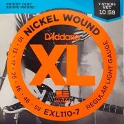 Corda Para Guitarra 7 Cordas 010 Exl110-7 Daddario