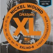 Corda Para Guitarra 8 Cordas Daddario 010 Exl140-8