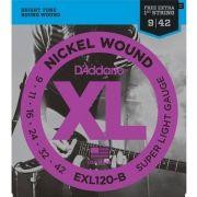 Corda Para Guitarra Daddario 009 Exl120-B