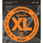 Corda Para Guitarra Daddario 010 Ecg23 Chromes
