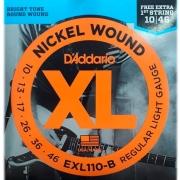 Corda Para Guitarra 010 Exl110-B Daddario