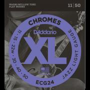 Corda Para Guitarra Daddario 011 Ecg24 Chromes