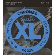 Corda Para Guitarra Daddario 012 Ecg25 Chromes