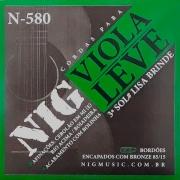 Corda Para Viola Leve Bronze 85/15 Cebolão em Mi N-580 NIG