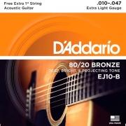 Corda Para Violão 010 Ej10-B 80/20 Daddario