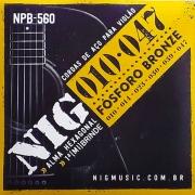 Corda Para Violão 010 NPB-560 Phosphor Bronze NIG