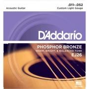 Corda Para Violão 011 EJ26 Phosphor Daddario