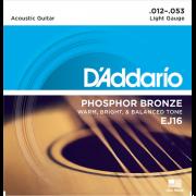 Corda Para Violão Daddario 012 Ej16 Phospor
