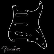 Escudo Fender para Guitarra Strato SSS Preto