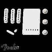 Kit Fender Acessórios Plástico Strato Branco