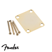 Neck Plate Fender Vintage Dourado Liso