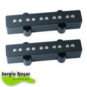 Par de Captadores Jazz Bass 5C Sergio Rosar Hot