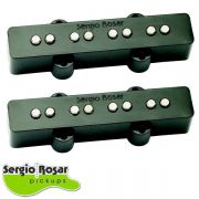 Par de Captadores Jazz Bass Sergio Rosar Hot