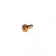 Parafuso Para Escudo Guitarra e Baixo 11,5 x 2,0mm Dourado