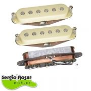 Trio de Captadores Sergio Rosar Hot Noiseless Aged White