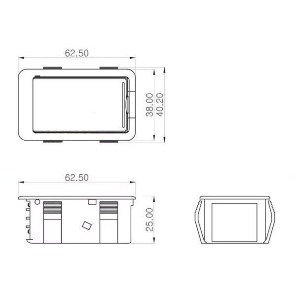 Box Para Bateria 9v Horizontal Encaixe