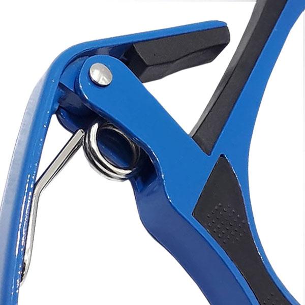 Braçadeira Capotraste Alumínio  Para Violão e Guitarra MC-28BE Azul MXT