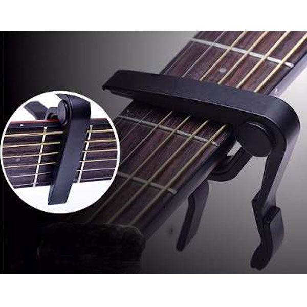 Braçadeira Capotraste Para Violão e Guitarra Preta