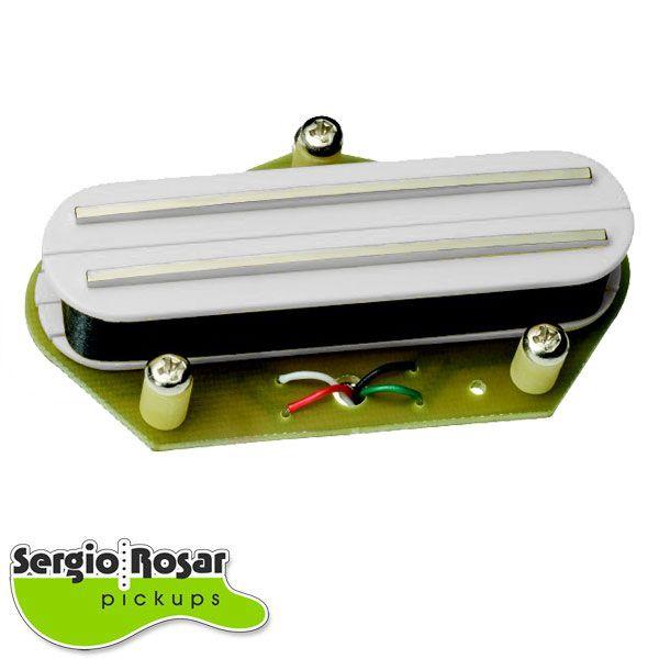 Captador Dual Blade Telecaster Sergio Rosar King Mid T Ponte Branco
