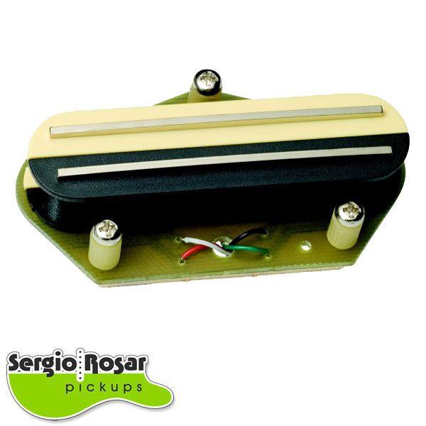 Captador Dual Blade Telecaster Sergio Rosar King Mid T Ponte Zebra Vintage