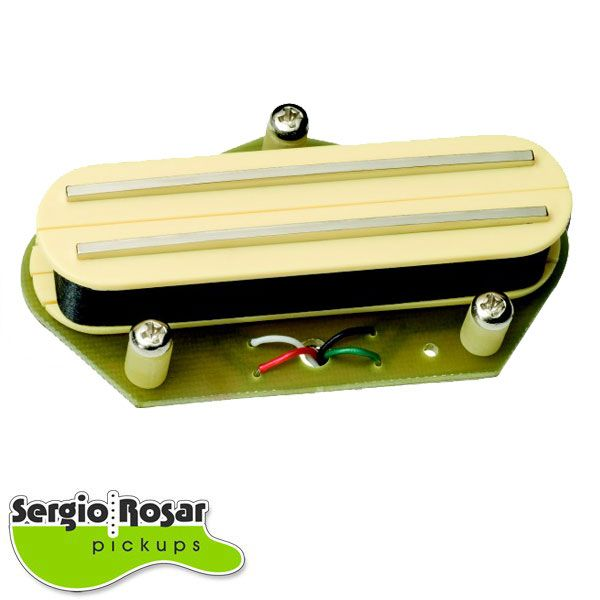 Captador Dual Blade Telecaster Sergio Rosar Screamin Distortion T Ponte Creme