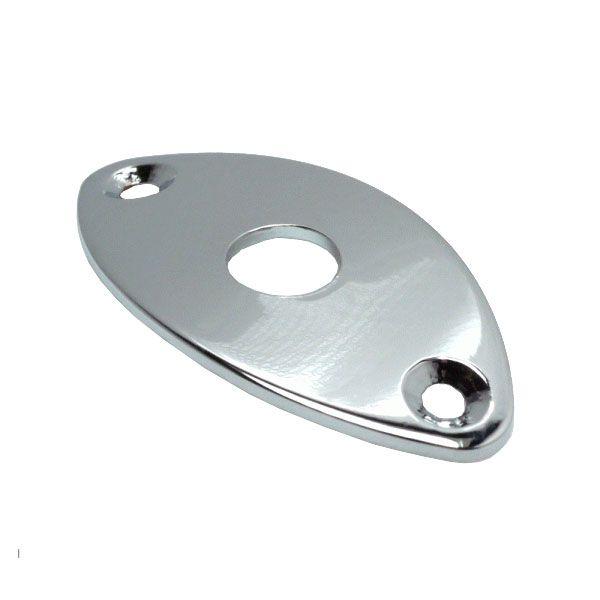 Chapa Metal Para Jack Oval Cromada