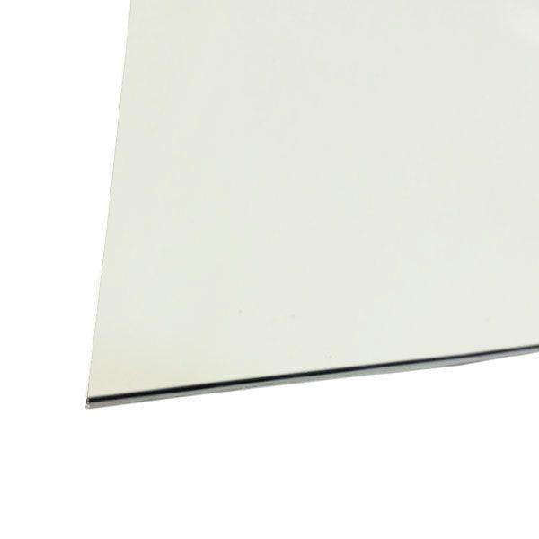 Chapa Para Escudo Sanduichado 32,5 X 25cm Branco
