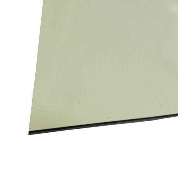 Chapa Para Escudo Sanduichado 32,5 X 25cm Mint Green