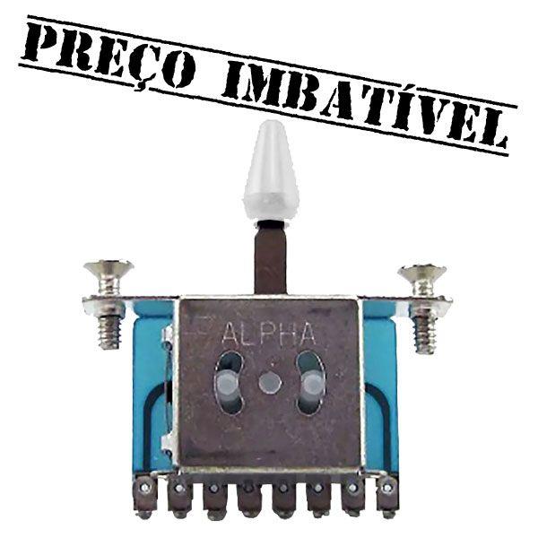 Chave Seletora 3 Posições Alpha para Guitarra