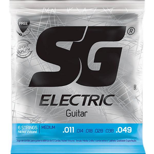 Corda Para Guitarra 011 Níquel Wound Medium SG