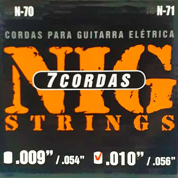 Corda Para Guitarra 7 Cordas 010 N-71 NIG