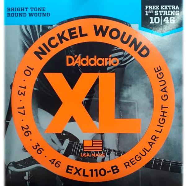 Corda Para Guitarra Daddario 010 Exl110-B