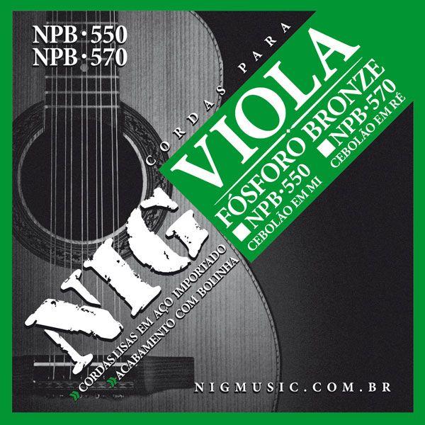 Corda Para Viola Nig NPB-550 Cebolao Em Mi