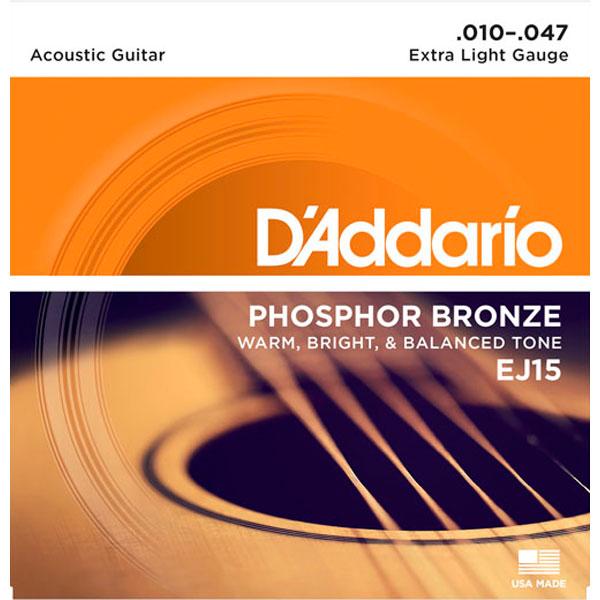 Corda Para Violão 010 EJ15 Phosphor Bronze Daddario