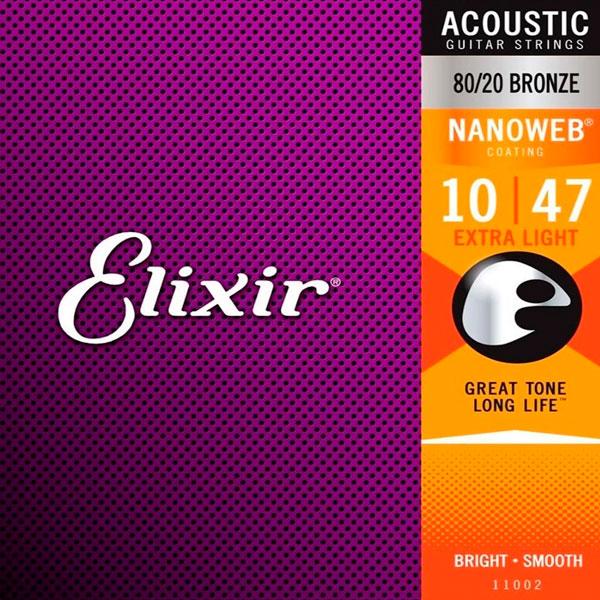 Corda Para Violão 010 80/20 Extra Light Elixir