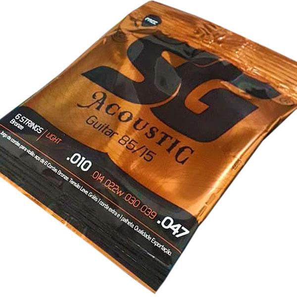 Corda Para Violão Aço 85/15 Bronze 010 SG