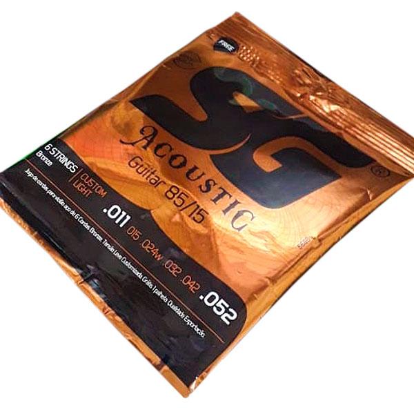 Corda Para Violão Aço 85/15 Bronze 011 SG