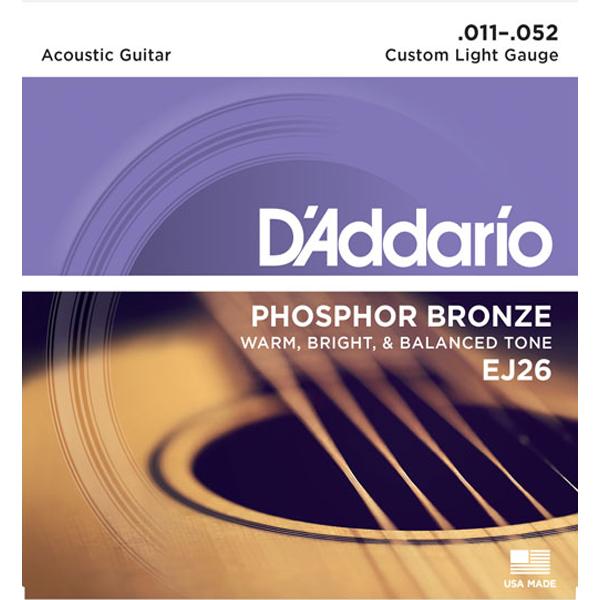 Corda Para Violão Daddario 011 Ej26 Phosphor